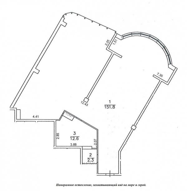 Планировки трехкомнатных квартир 167.8 м^2